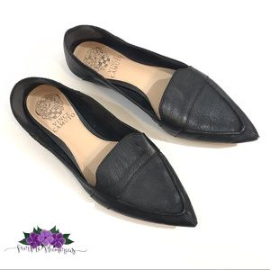 Vince Camuto Maita black leather loafer flat 6.5
